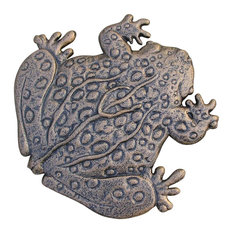 Frog Stepping Stone in Bronze Finish