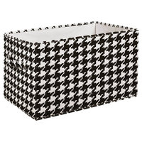 """Collapsible Boxes, Black and White, Set of 3, 16""""x12""""x10"""", 7 lb."""