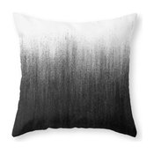 Charcoal Ombre Couch Throw Pillow - Cover (18  x 18 ) with pillow insert - Indoo