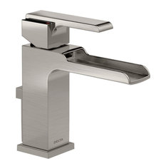 Delta Ara Single Handle Channel Bathroom Faucet, Stainless, 568LF-SSMPU