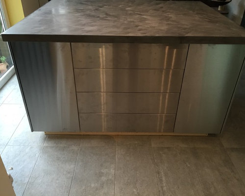 polished concrete kitchen island surface products
