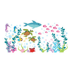 Aquarium Wall Decal - Under The Sea - Oceanic Wall Decal - Fish Wall Decal