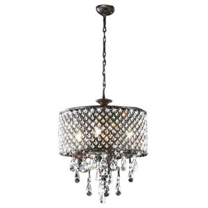 Gabby Etienne 4 Light Tiered Wooden Bead Chandelier
