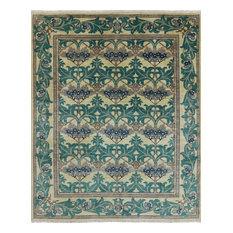 "Oriental Suzani Handmade Wool Rug, 8'1""x9'8"""