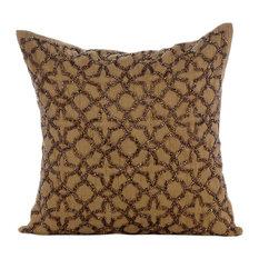 "Gold Celebration, 18""x18"" Art Silk Gold Throw Pillow Covers"