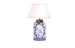Blue Canton Tea Caddy Lamp