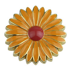 Aster Cabinet and Furniture Knob, Apricot With Red-orange