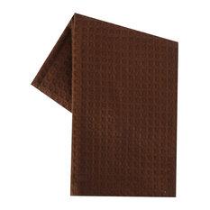 Tea Towel Waffle Weave Solid Color, Brown