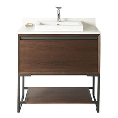 """Fairmont Designs M4 36"""" Single Vanity Natural Walnut, Cabinet Only, Top Not Incl"""