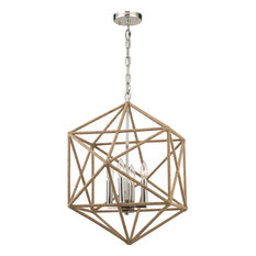Exitor 4 Light Chandelier - Polished Nickel