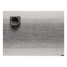 """Ombre Table Mat 14""""x19"""", Silver"""