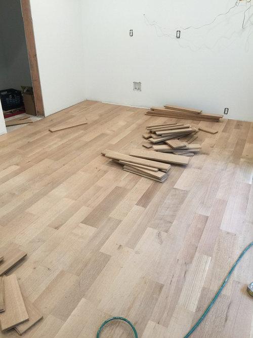 Unfinished White Oak Floors