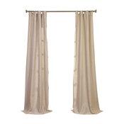 "Birch Linen Sheer Curtain Single Panel, 50""x96"""