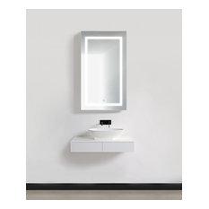"""24"""" Wide LED Medicine Cabinet With DeFog, Dimmer, and Outlets, 42"""", Left"""