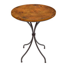 "Italia 36"" Bar Table With 30"" Round Copper Top"