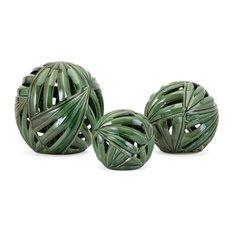 Imax Palmetto Wall Or Deco Balls, Set of 3