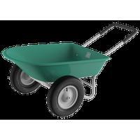Pure Garden Large Capacity 2 Wheel Garden Utility Wheelbarrow