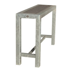 Zealand Narrow Bar Table, Without Wheels