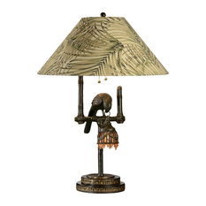 tropical table lamps with a pull chain houzz. Black Bedroom Furniture Sets. Home Design Ideas