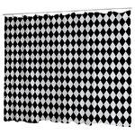 Uneekee Black Diamond Dog Shower Curtain