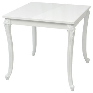 VidaXL High Gloss White Dining Table, 80x80x76 cm