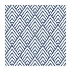 Arrowhead Deep Blue Peel and Stick Wallpaper, Bolt