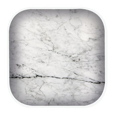 Zak!designs Osmos Natural Effect Coasters, White Marble, Set of 3