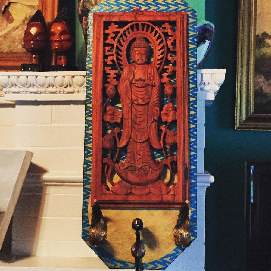 Buddha Blessing Birds Coat Rack