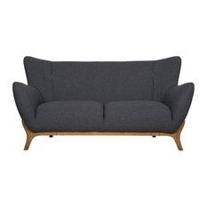 Mason And Pearl Wesley Scandinavian Sofa Dark Grey 2 Seater Sofas