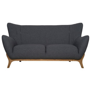 Wesley Scandinavian Sofa, Dark Grey, 2-Seater