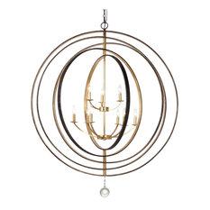 Crystorama Luna 9 Light English Bronze & Antique Gold Chandelier