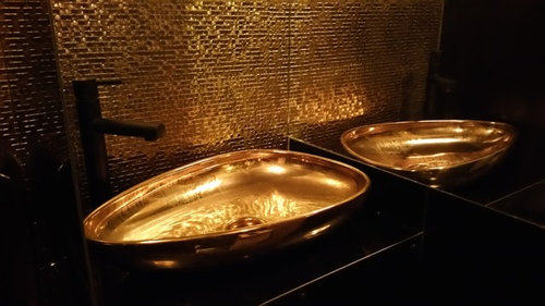 Black And Gold Toilet In Amsterdam