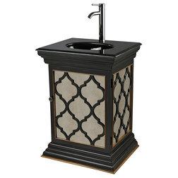 Nice Mediterranean Bathroom Vanities And Sink Consoles Sterling Industries Mariposa Mirrored Vanity Unit With Moorish Pattern