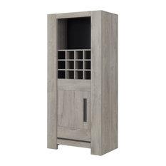 Boston Drinks Cabinet, Light Grey Oak