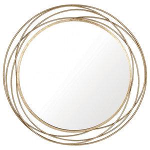 Gold Swirl Circular Mirror, 90x90 cm