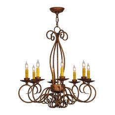 """Meyda Lighting 26""""W Elisha 8-Light Chandelier"""