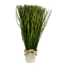 "Artificial Desktop Grass Planter, 18""x7"""