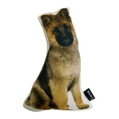 "German Shepherd Shaped Puppy Indoor/Outdoor Pillow, 13""x7"""