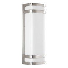 Progress Lighting Valera LED 2-Light Wall Lantern, Brushed Nickel