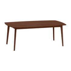"""Catalina 78"""" Fixed Top Table by Copeland Furniture, Natural Walnut"""
