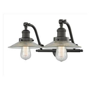 Innovations Lighting 515-2W-OB-G2 Halophane 2 Light Bath Vanity Light