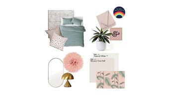 Blush + Sage Bedroom