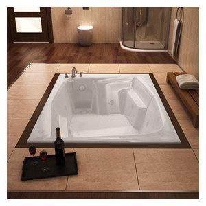"Venzi Capri 54""x72"" Rectangular Air and Whirlpool Jetted Bathtub, Left Drain"