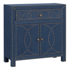 Southern Enterprises - Florian Double-Door Cabinet, Navy - Accent Chests and Cabinets