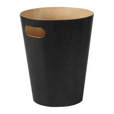 Umbra Woodrow Waste Bin, Black