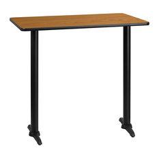 "Dyersburg 30""x42"" Rectangular Natural Laminate Table Top With 42"" T-Base"
