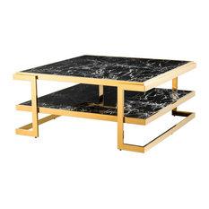 Square Coffee Table Eichholtz Senato Black 40-inchx40-inchx18-inch
