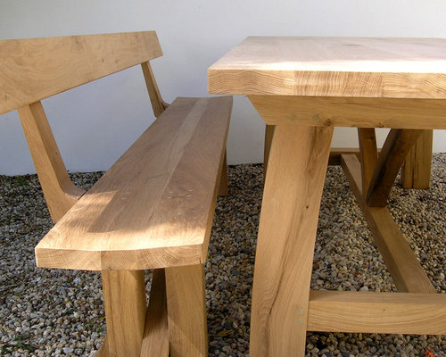 Oak Zen Dining Bench With Back   Dining Benches