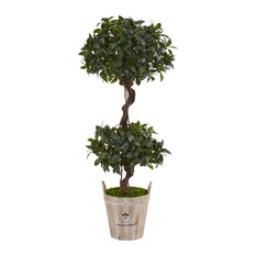 Sweet Bay Double Topiary Artificial Tree in Green