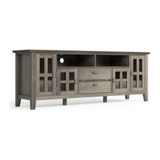 Artisan Solid Wood TV Media Stand 72-inch Distressed Gray